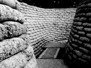 Reconstructed - section of trench Vimy ridge
