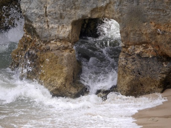 Sandstone cliffs and grottos
