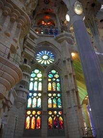 Inside the nativity facade entrance