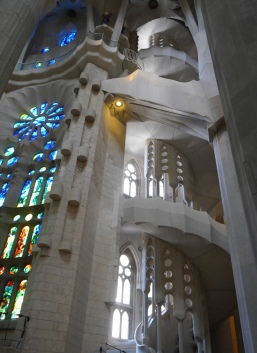 Window and spiral staircase passion facade