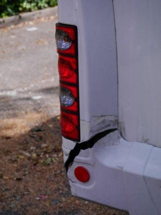 Rear end damage