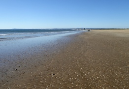 Tiny beach ...